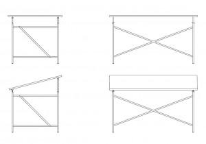 Eiermann table frame 1