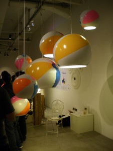 Beachballs by TOBYhouse at designersblock, Milan