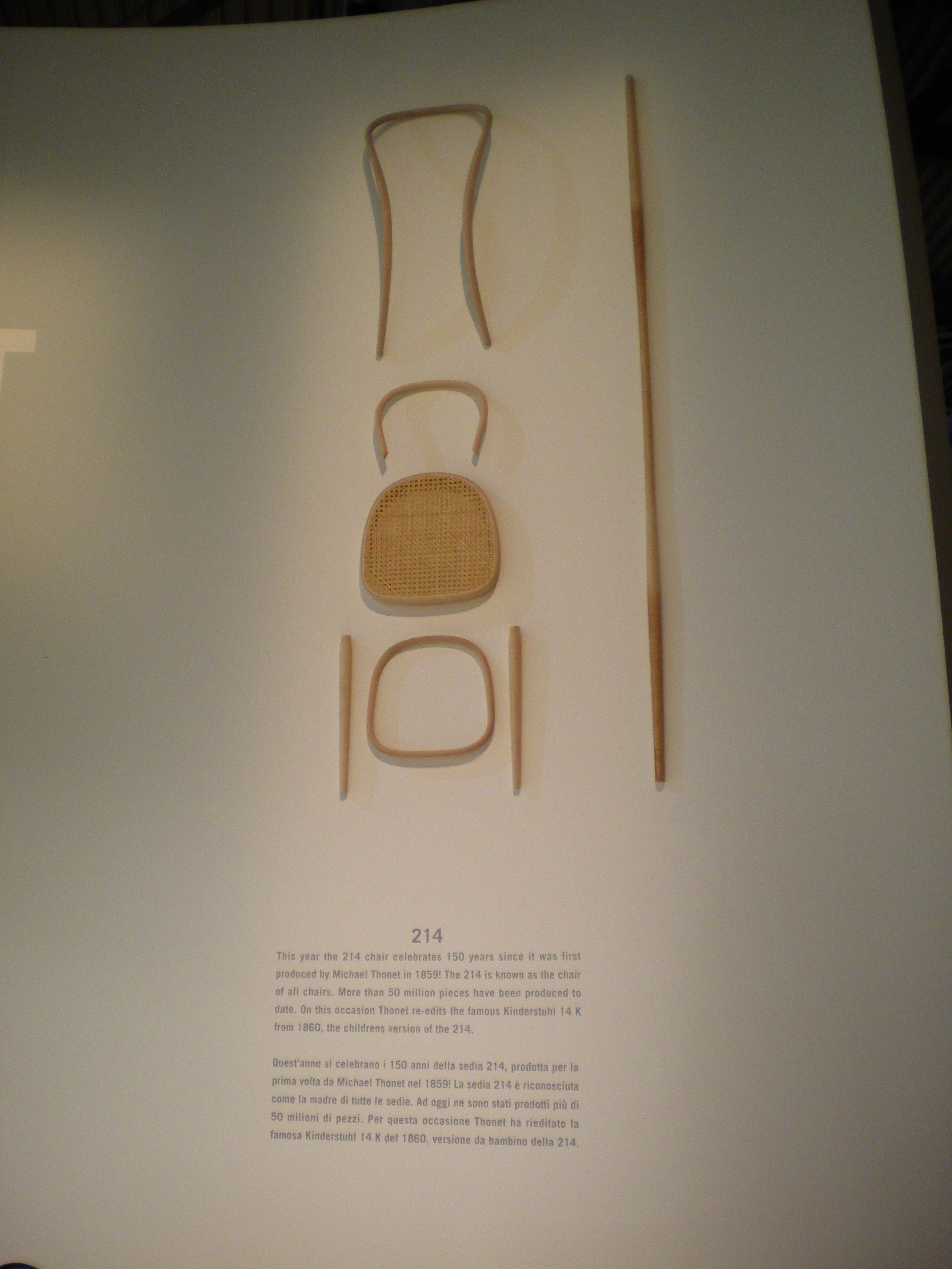 214 by Michael Thonet - a couple of bits of wood and a little skill.