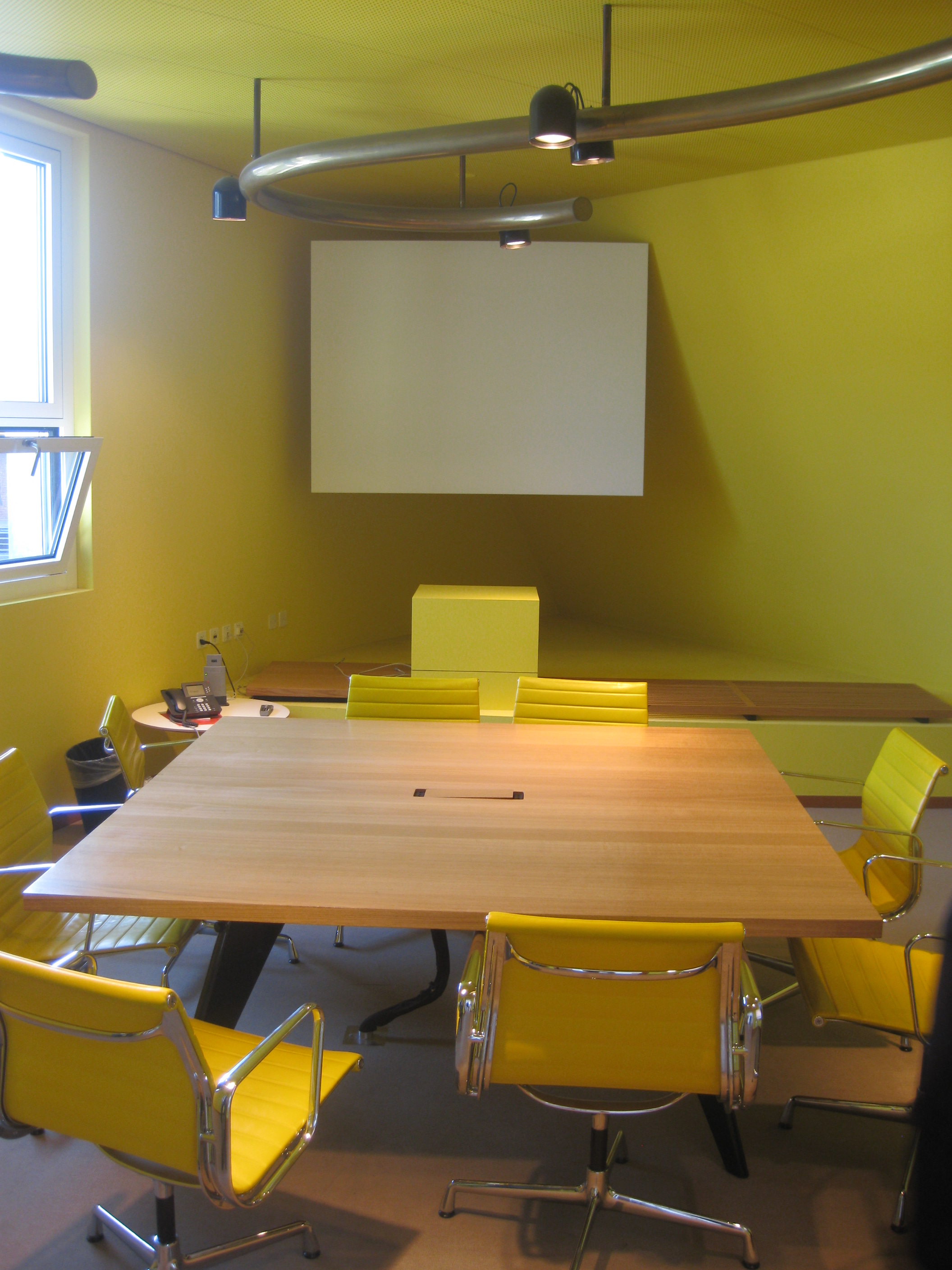 The yellow room at vitra hq in basel with ea 108 from charles and ray