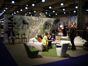 The Vitra stand in new York - smaller than the Vitra VIP area in Milan (honest!!)