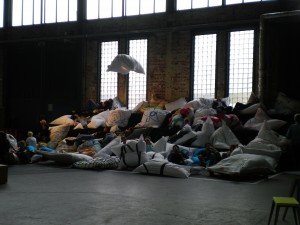 Beanbag heaven at DMY Youngsters - students, sleep etc...