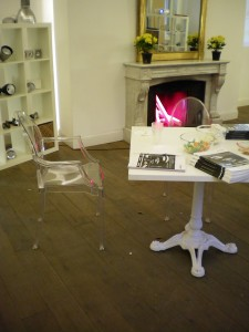 Louis Ghost Chairs in Milan... seen the one behind the table'' Didn't think so,