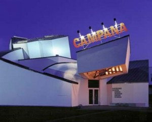 Vitra Design Museum (with advertising for the current exhibition)
