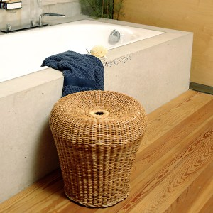E 14 Rattan Stool by Egon Eiermann from Lampert