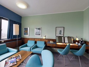 Room 606 at the SAS Royal in Copenhagen. Designed by Arne Jacobsen