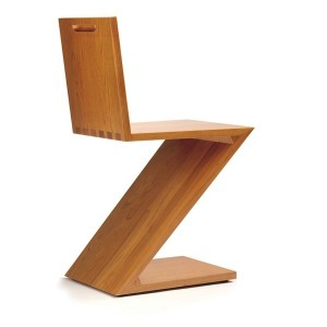 Zig-Zag chair by Rietveld through Cassina