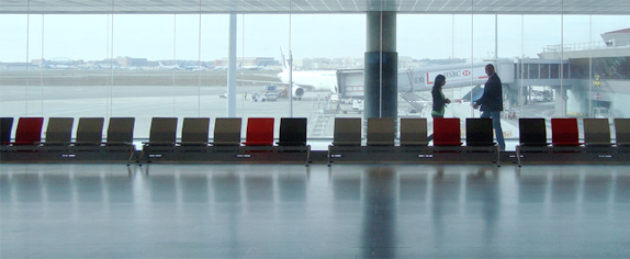 Airline seating as part of airport design