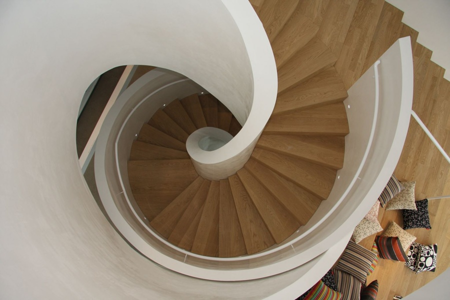VitraHaus: Spiral staircases are an important feature
