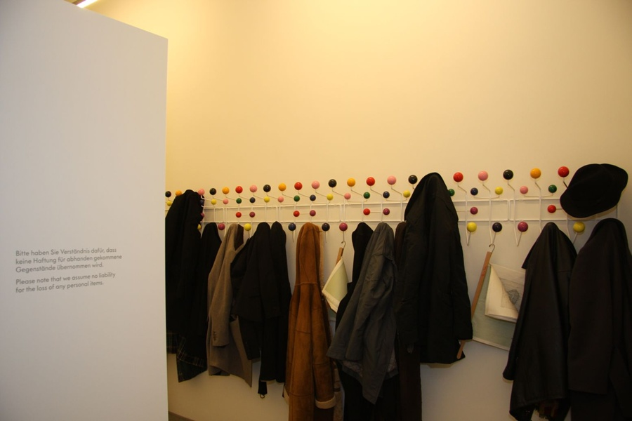 VitraHaus cloakroom: Obviously with Eames Hang it Alls