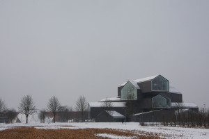 Vitrahaus next to Richard Buckminster Fuller's Dome