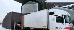 The (smow)blog cameras being delivered in Weil am Rhein in preparation for the VitraHaus preview