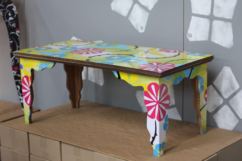 edge table by liquid design cardboard furniture design