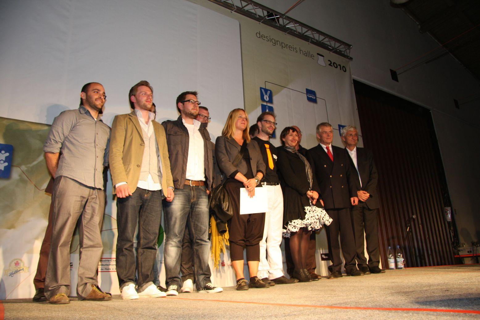 Desinpreis Halle 2010 winners - front left first prize winner
