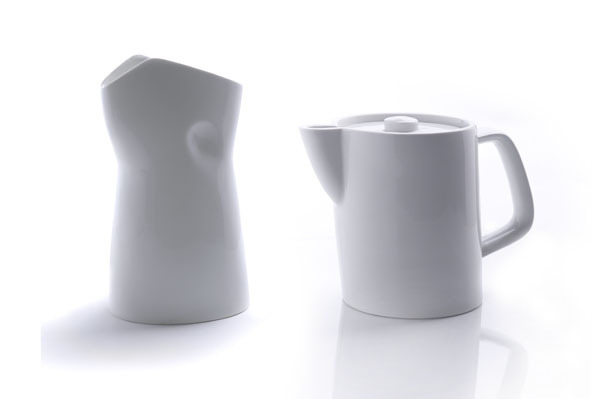 Porcelain jugs by Stephan Schulz