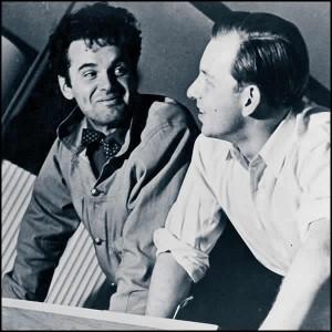 Charles Eames and Eero Saarinen at Cranbrook Academy (photo © Cranbrook Archives)