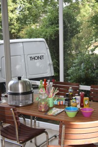 Cobb grill and Thonet - the perfcet combination summer, winter, autum or spring