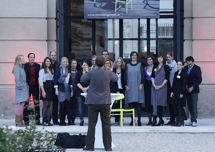 Vienna Design Week team photo - and sadly not the Vienna Design Week Choir as we hoped....