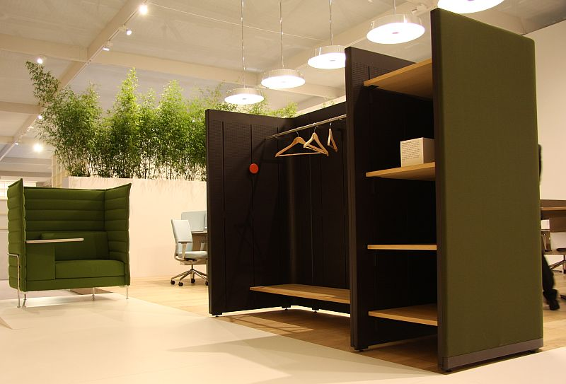 Orgatec 2010: Vitra - Comunal Cells as wardrobe, Alcove Work , ID Chair Concept