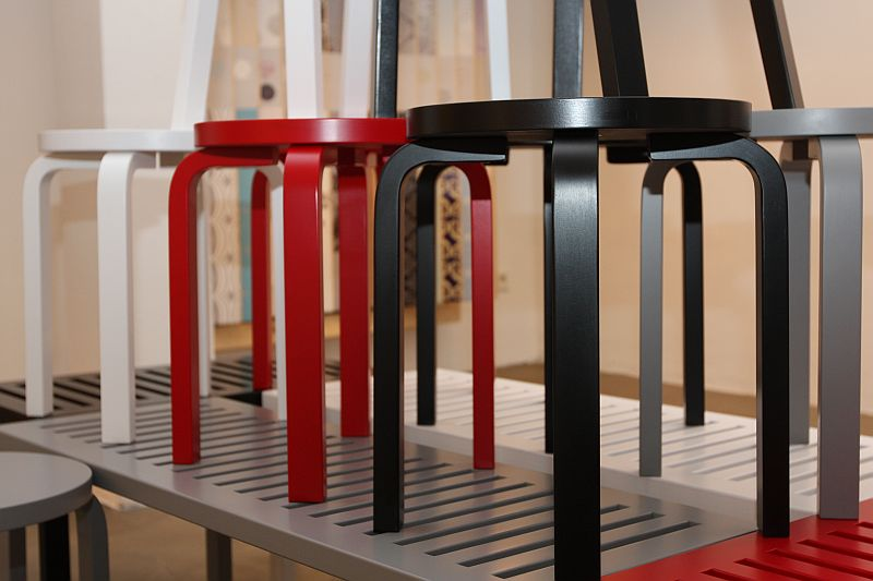 Stool 60 by Alvar Aalto @ Droom/Design Your Room, Cologne