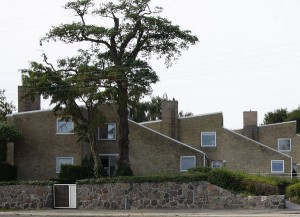 I kælderen i dette hus på Strandvejen ved København arbejdede Verner Panton for Arne Jacobsen i hans atelier.