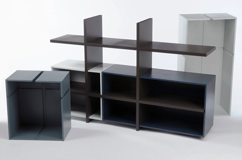A modular shelving and storage system