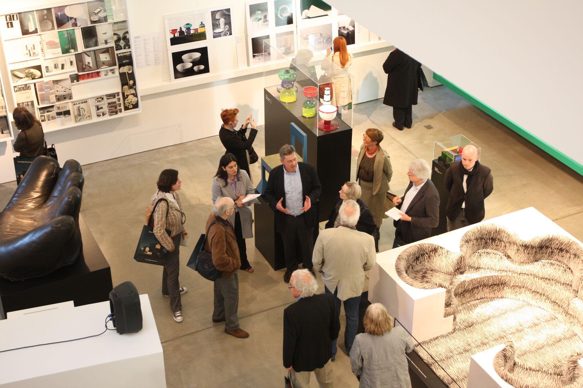 Curator Mathias Schwartz-Clauss guides visitors through the exhibition
