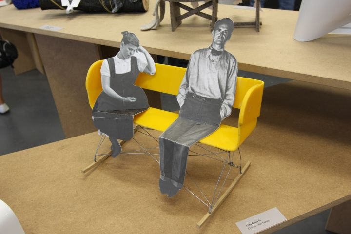 Elias Betka's bench for Charles and Ray Eames, Burg Giebichenstein Halle 2011