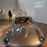 V&A Museum London. British Design 1948-2012: Innovation in the Modern Age. An  E-Type Jaguar
