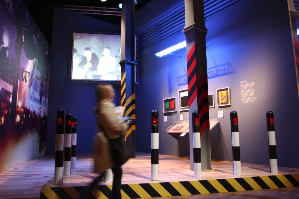 V&A Museum London British Design 1948-2012 Innovation in the Modern Age FAC 51 Hacienda Ben Kelly