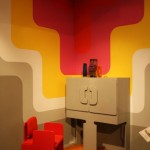 V&A Museum London. British Design 1948-2012: Innovation in the Modern Age. A living room ensemble by Max Clendinning