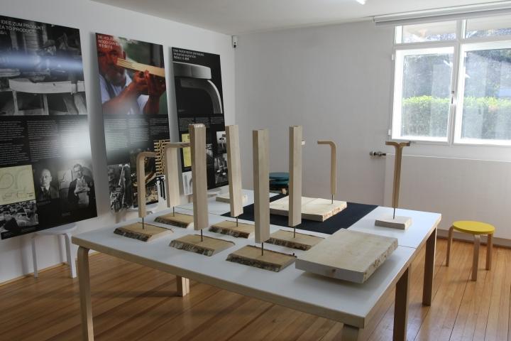 IMM Cologne 2013 Stool 60 by Alvar Aalto at Ungers Archiv für Architekturwissenschaft
