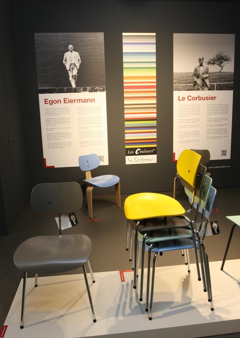 IMM Cologne 2013 Wilde+Spieth Egon Eiermann SE 68 SE 42 Le Corbusier Les Couleurs