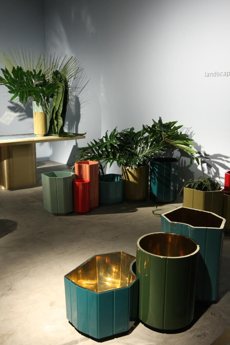 Design Basel 2013 Carwan Gallery Landscape Series India Mahdavi Vases Gold