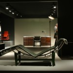 Design Miami Basel 2013 Desk relaxing on Le Corbusier chaise lounge