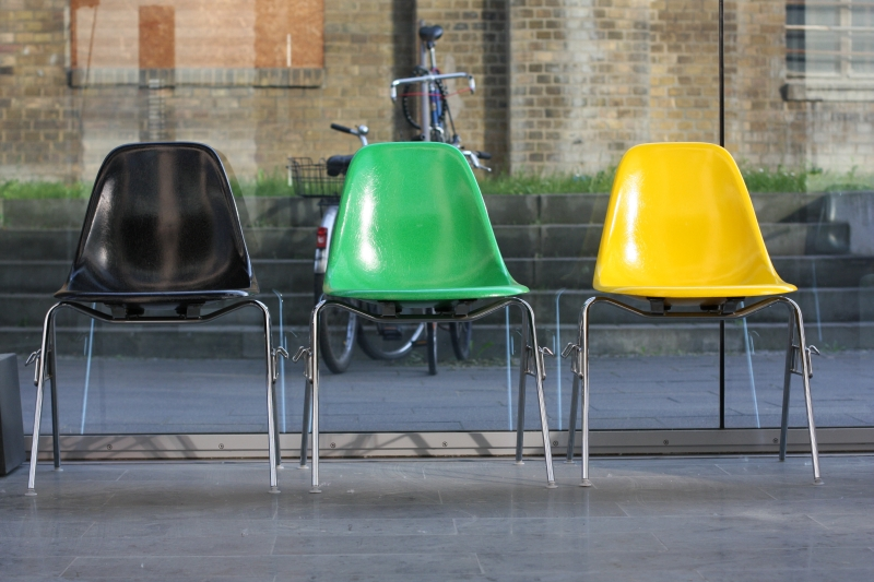 Charles and Ray Eames plastic sidechairs