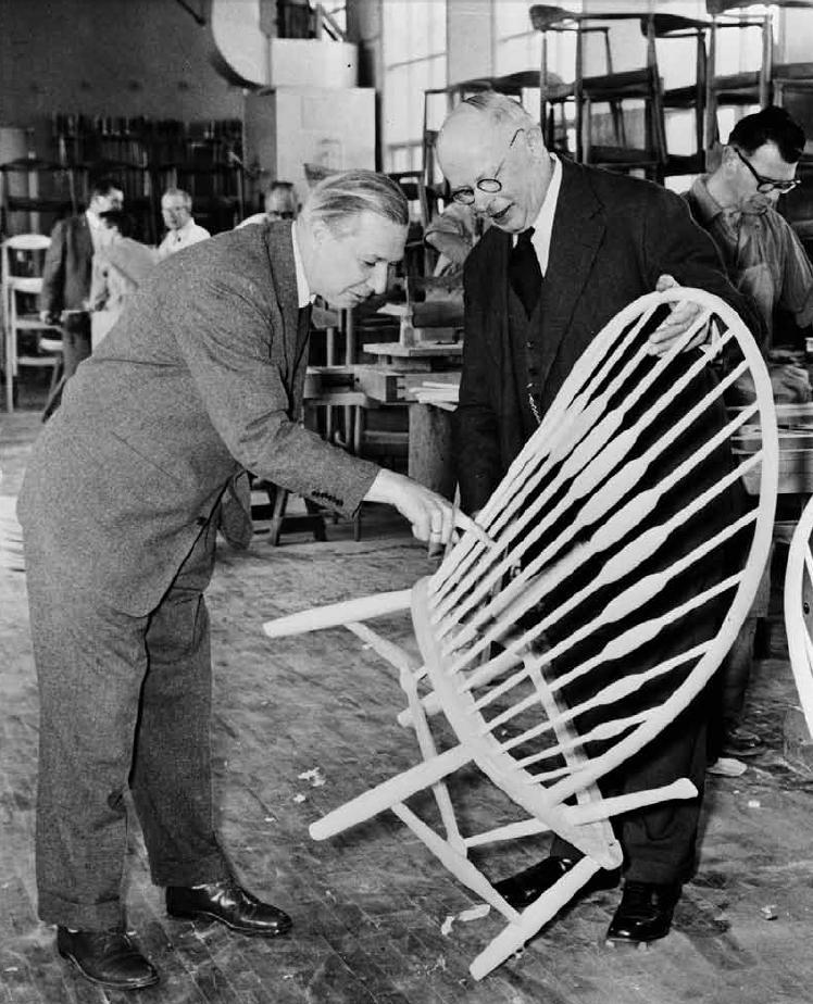 Hans J Wegner and Johannes Hansen JH550 PP550 The Peacock Chair