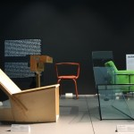 A prototype and finished object from Konstantin Grcic's Man Machine project. As seen at Konstantin Grcic - Panorama