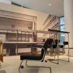The Kramer Principle Design for Variable Use Museum Angewandte Kunst Frankfurt am Main undated prototype upholstered cantilever chair