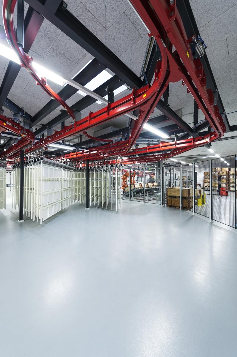 USM powder coating facility Münsingen