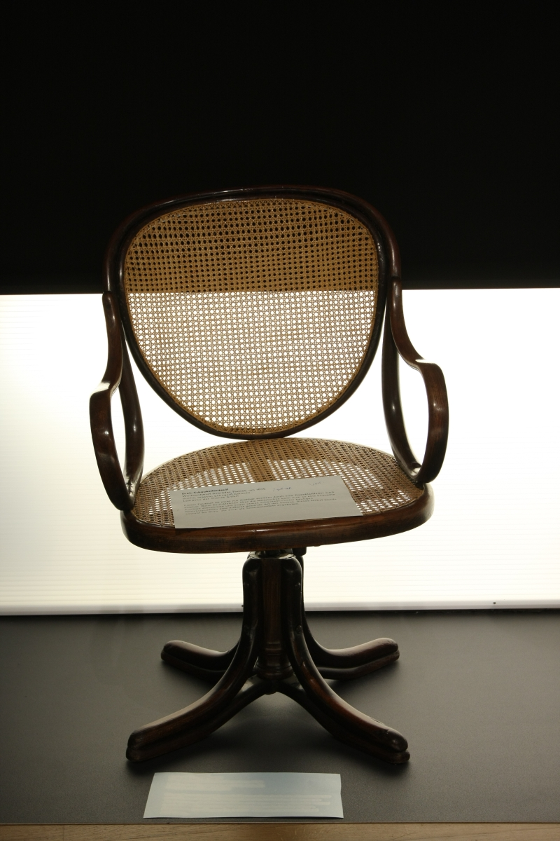 1875 Swivel Ofiice Chair by Gebrüder Thonet Vienna Grassi Leipzig