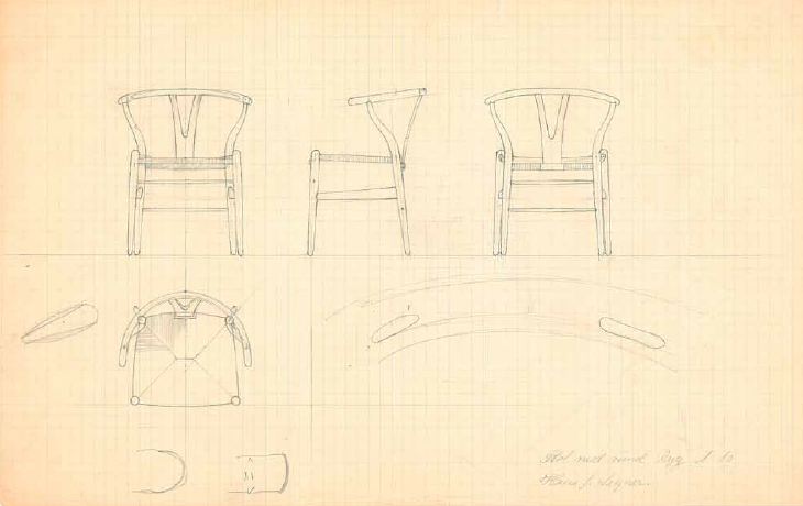 CH24 Wishbone Chair Hans J. Wegner Carl Hansen & Søn Sketch