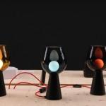 Milan Design Week 2014 Le Feu Sacré Designers and glass blowers at Institut Francais Up Lamp Werner Aissinger