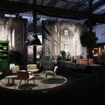 Moooi in Milan 2014: Nut Chair by Marcel Wanders and Salago Lamp by Danny Fang