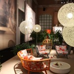 Moooi in Milan 2014:Taffeta Sofa by Alvin Tjitrowirjo and Random Light by Bertjan Pot
