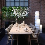 Moooi in Milan 2014: Tapered Table by Mooi Works and Zio Armchair by Marcel Wanders