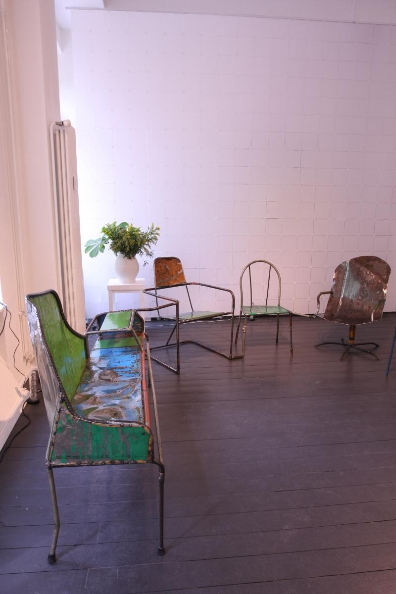 Niek van der Heijden Assemblage DAD Galerie Berlin Living Forum