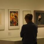 Studying the Fine Art section of Wassily Kandinsky - Lehrer am Bauhaus at Bauhaus Archiv Berlin