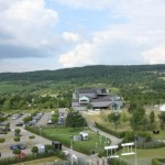 The view from the top of the Vitra Slide Tower