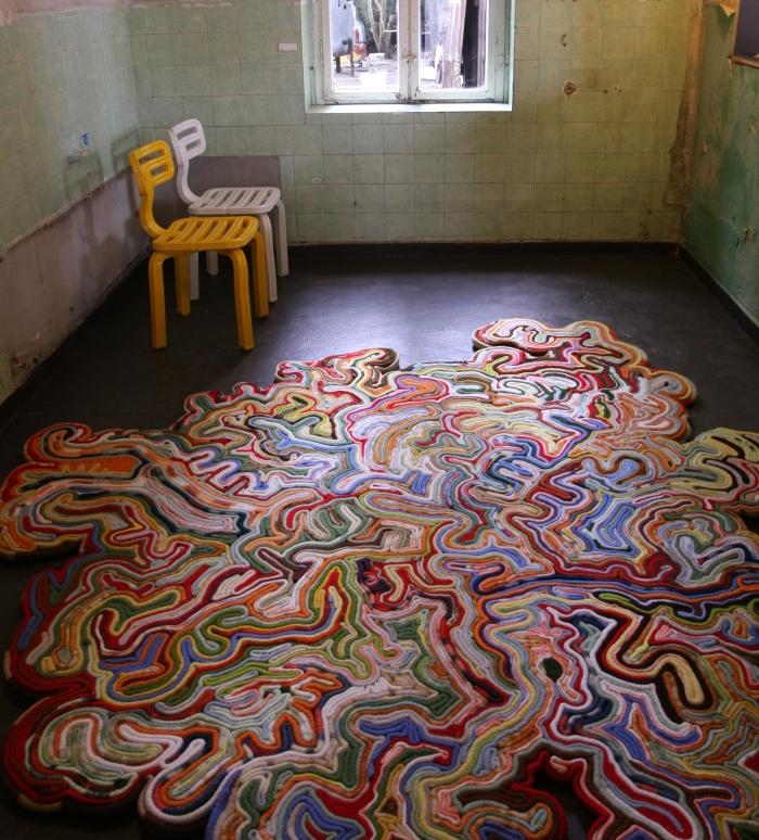 Accidental Carpet Tejo Remy René Veenhuizen Unter Zwischen im Ampelhaus Oranienbaum